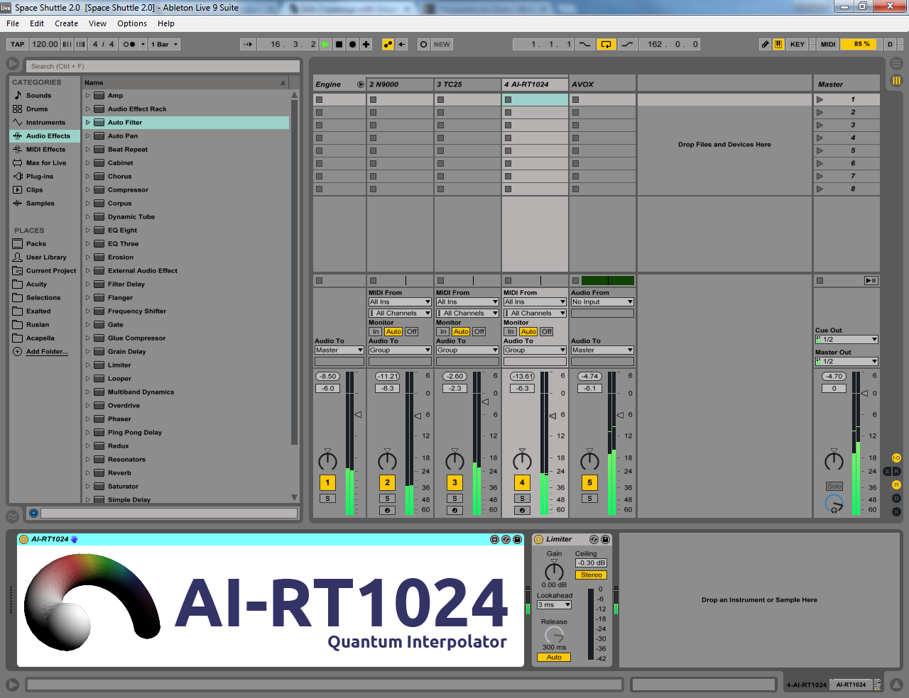AI-RT1024 in Ableton Live 9